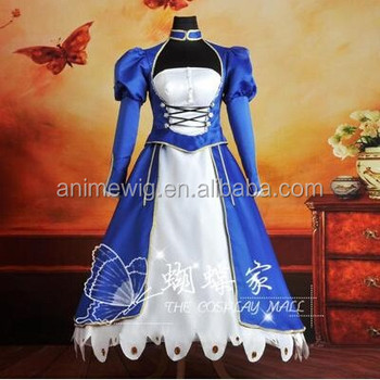 High Quality Fate zero Fate stay night saber Anime cosplay Costume One Piece uniforms Halloween Costume & High Quality Fate Zero Fate Stay Night Saber Anime Cosplay Costume ...