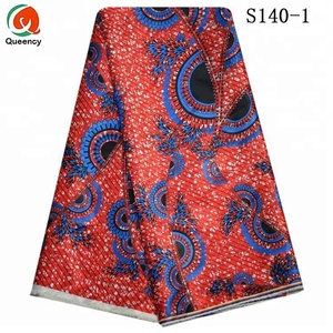 Queency African Fashion Printed Wholesale Poly Satin Fabric Price In India