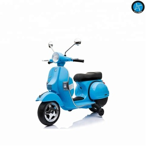 6V licensed Vespa PX150 with one motors Kids birthday gifts car ride on electric motorcycle Ride on car