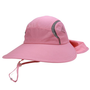 Summer sun protection with UPF functional Blank Wide Brim Hat With Neck  Cover 26b9f386d118
