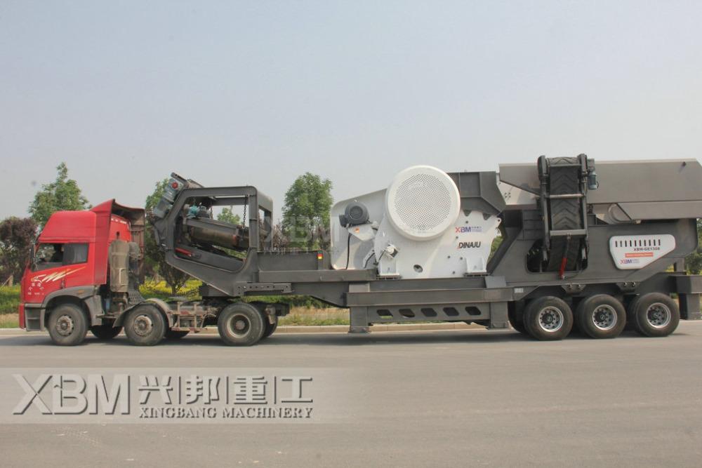 Мобильная дробилка для бетона транспортер ленточный наклонный