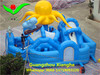 Commercial octopus kids inflatable amusement park 8.5x8.5x4.8m