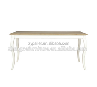 France country style solid wood white coffee table