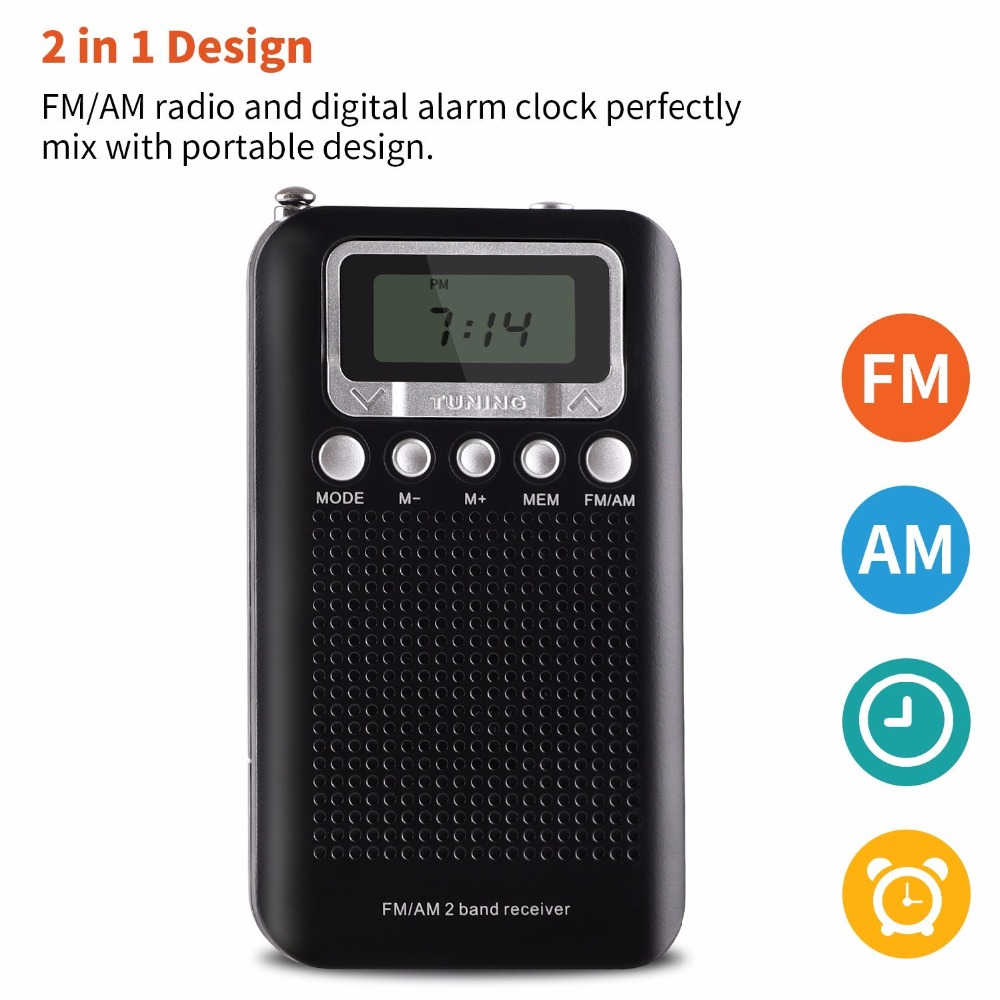 cheap alarm clock radio digital small radios strong mini receiver