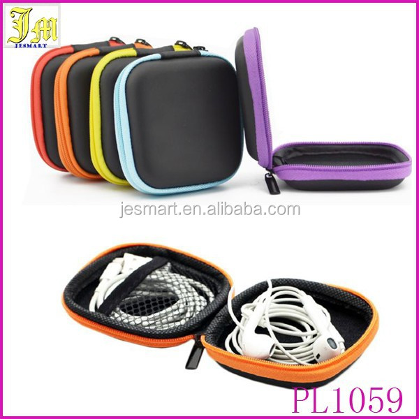 New Fashion Portable Mini Carrying Hard Hold Storage Case Bag For Earphone Headphone Earbuds SD Card Square Organizer