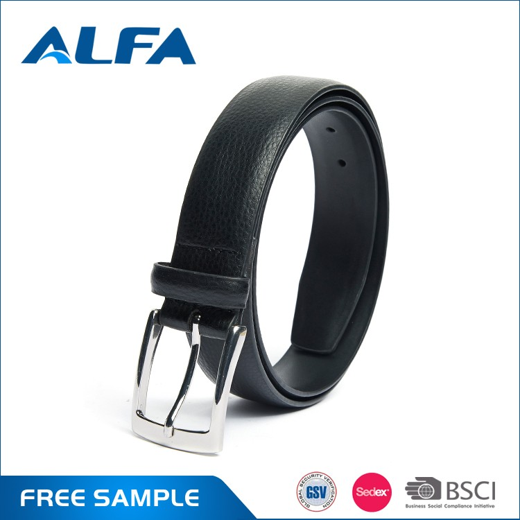 Alfa China Cheap Products Fashion Italian Designer Belt Textured Man Pu Leather Belt