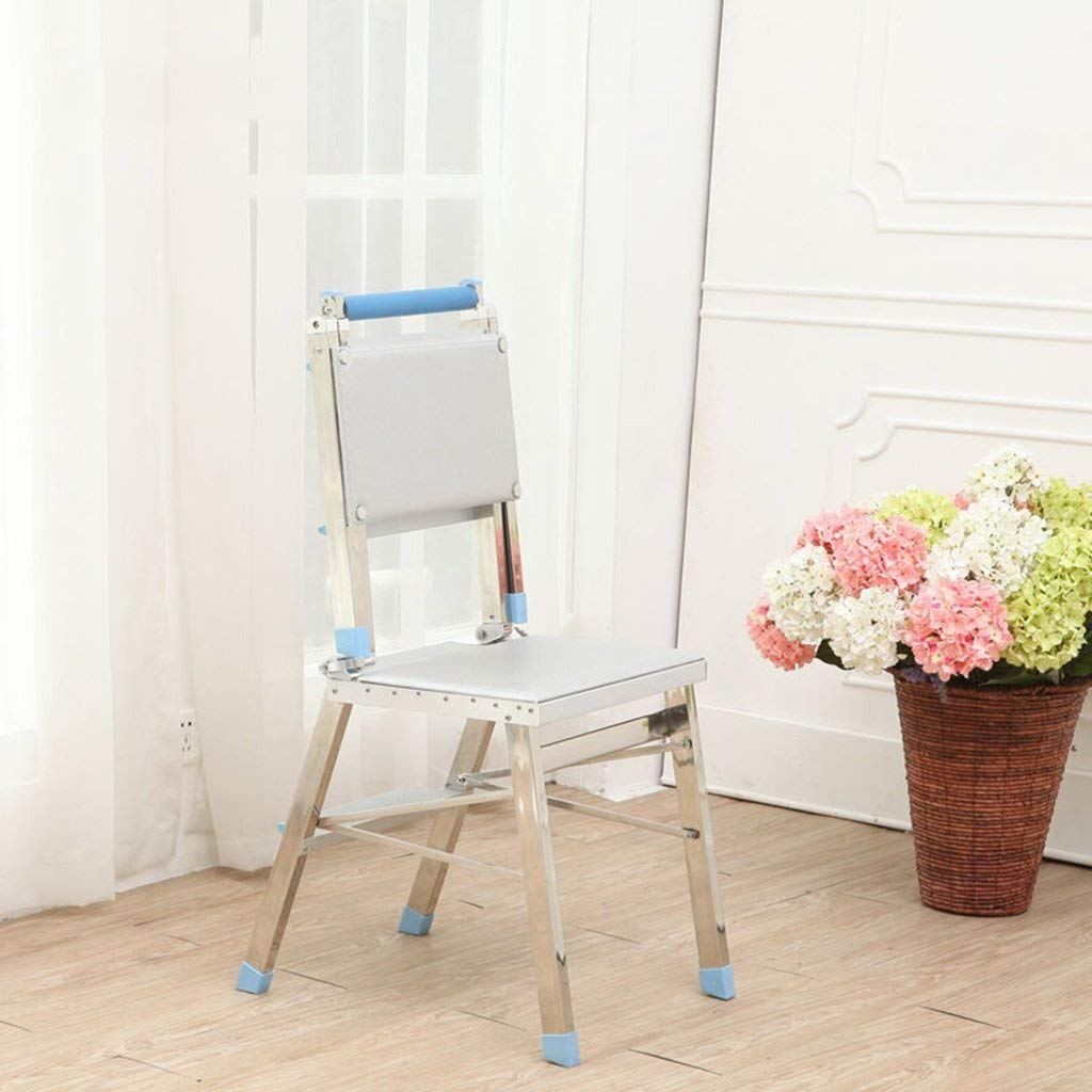 Step Stools Dual-use Folding Ladder Household Stainless Steel Chair Indoor Aluminum Alloy Four-step Ladder