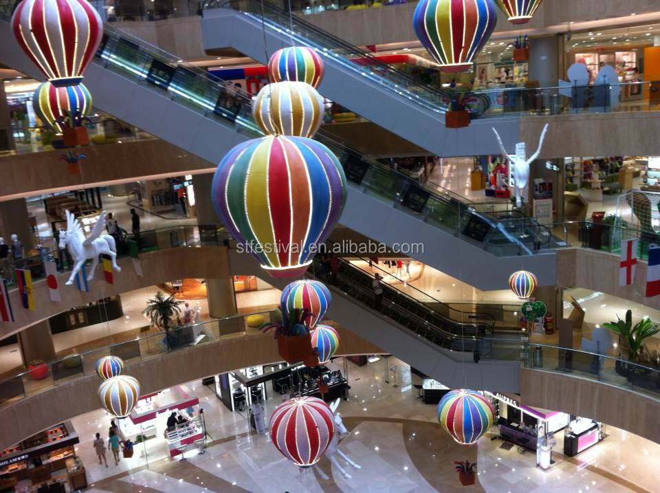 New design shopping centre atrium hot air balloon for Atrium design and decoration