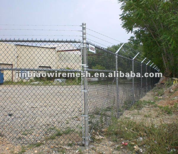 Chain Link Fence Barbed Wire Top