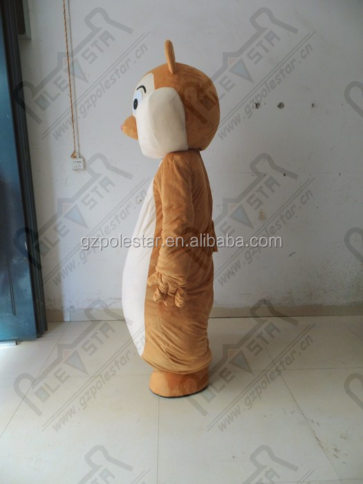fat chipmunk mascot costumes hot sale high quality PP cotton filled squirrel costumes