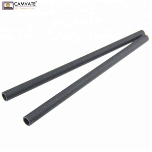 CAMVATE 15mm Carbon Fiber Rods 30cm Length for DSLR Camera Rig Cage Shoulder Support