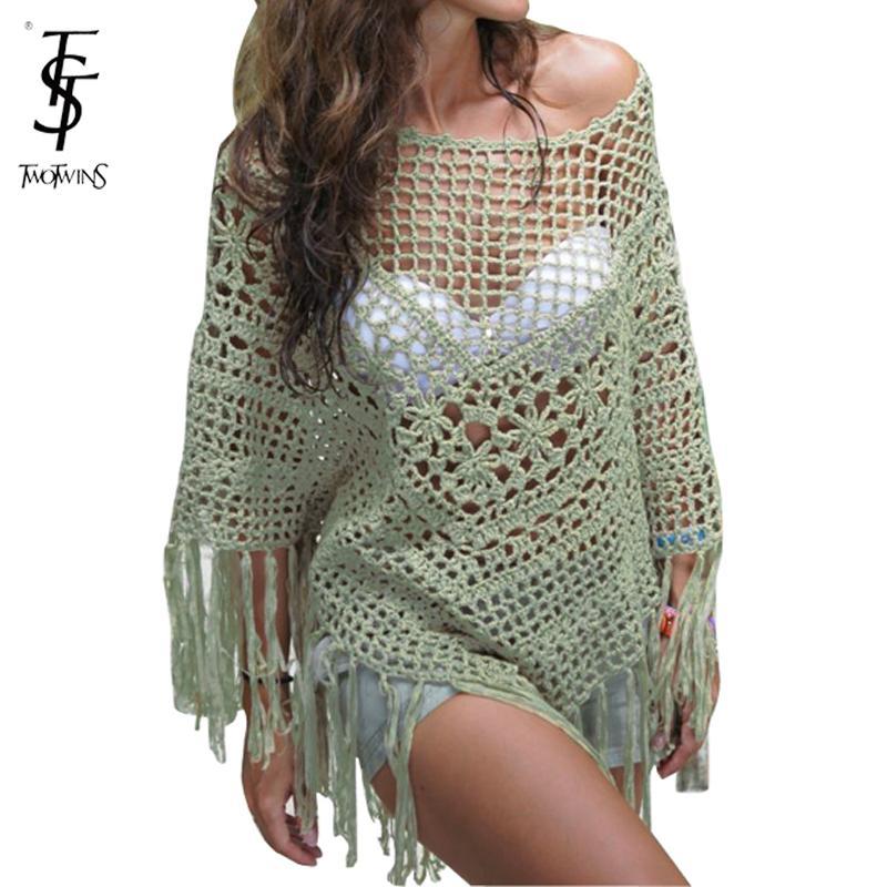 Get Quotations · 2015 new arrival women Crochet Beach Cover Up Swimsuit  Tunic Bikini Swimwear tops Lace Cover- 48c47949b