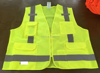 Front solid fabric back mesh fabric safety vest