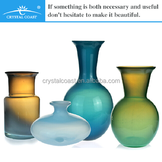 Different Types Decoration Glass Vase Hand Blown Glass
