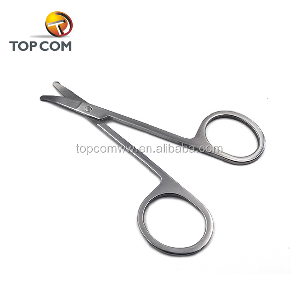 Professional best rounded tips nose hair scissors