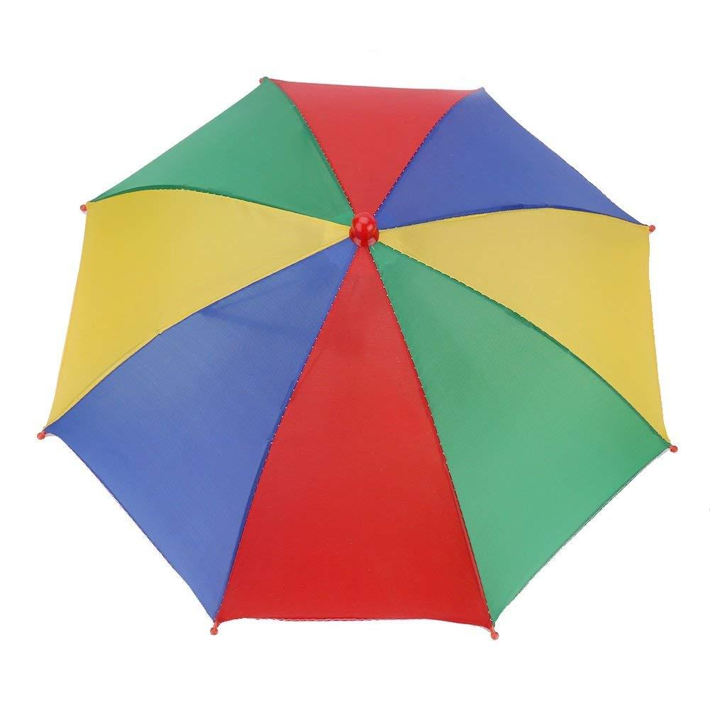 afd97282d6d Get Quotations · Dewin Umbrella Hat - 3 Colors Outdoor Foldable Sun  Umbrella Hat Golf Fishing Camping Headwear Cap