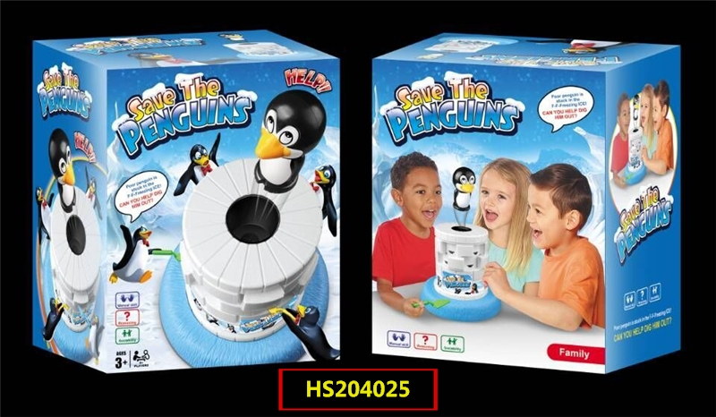HS204025, Huwsin Toys, Save the penguins, Table game, Educational toy
