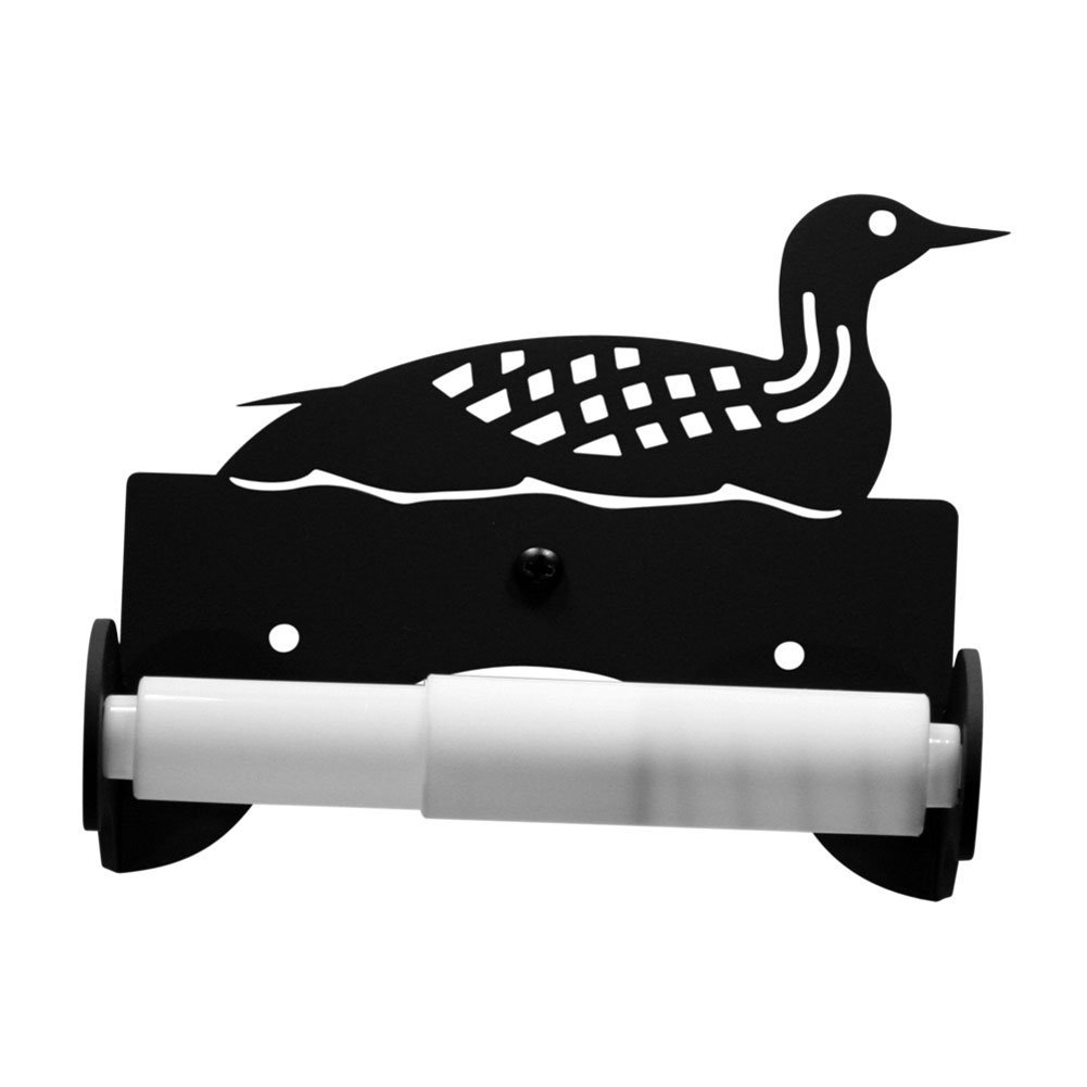 Iron Traditional Style Loon Toilet Roll Tissue Holder - Heavy Duty Metal Toilet Paper Holder, Toilet Tissue Holder, Toilet Paper Dispenser, Toilet Roll Dispenser