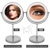 Stainless Steel Cosmetic Vanity Makeup Mirror With LED mirror with lights