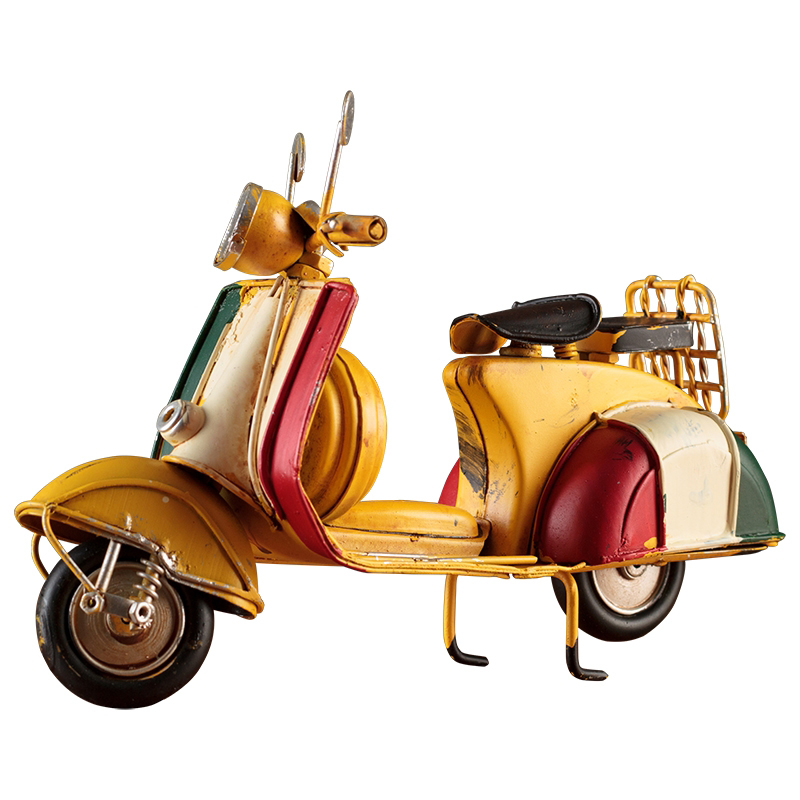Wholesale Antique Metal Craft Motorcycle Models Scooter For Bar Decor Handicraft Miniature Crafts