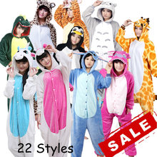 Unicorn Stitch Totoro Kigurumi Adult Unisex Flannel Hoodie Pajamas Costume Cosplay Cute Animal Onesies Sleepwear For Women Men