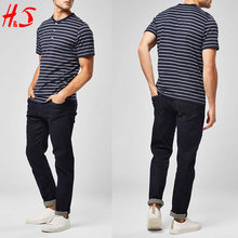 New Arrival 100% Cotton Casual Line Stripe T Shirts Men's Clothing