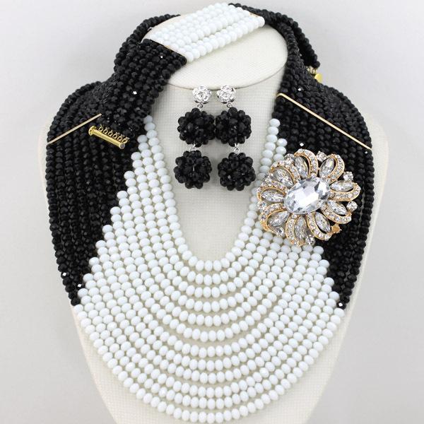 New Design Nigerian Wedding African Beads Jewelry Set Yellow