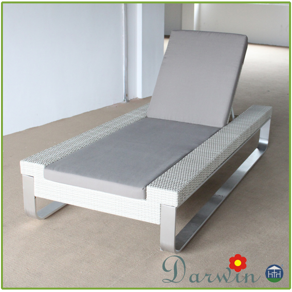 Patio furniture outdoor garden aluminium rattan sun lounger