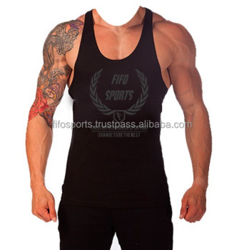 cfba30871e4a42 Custom T   Y Back Bodybuilding Singlet   Stringer Singlet   gym tank tops