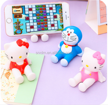 OEM cute cartoon character phone holder,plastic 3D phone holder factory,custom make phone holder