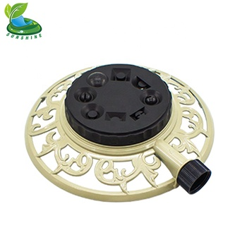 Eight-pattern Spray Head Stationary Sprinkler With Decorative Metal Base -  Buy Hight Quality Sprinkler,Stationary Sprinkler,Sprinkler Product on