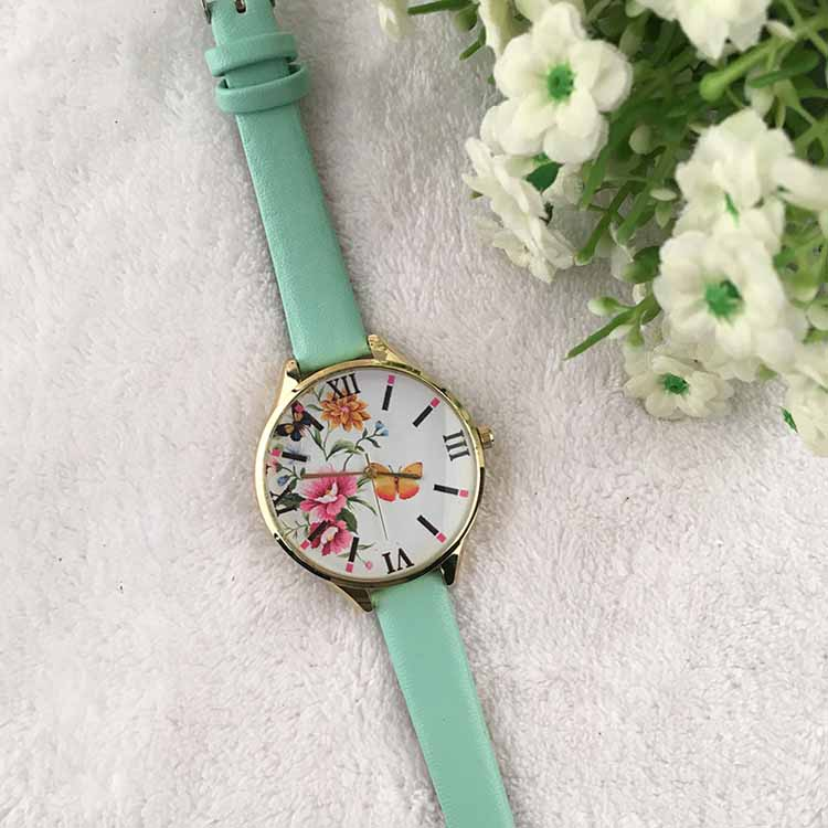 Low price quartz stainless steel watch water resistant new design fashion girls watch with nice watch dial