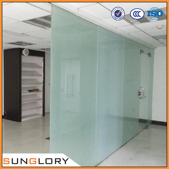 Captivating Reinforced Frosted Glass Office Partitions