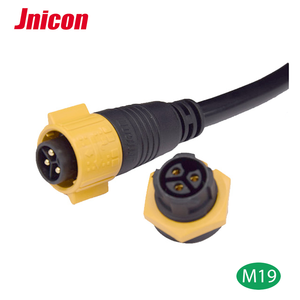 Male and Female 3 pin m19 XLR circular panel mount waterproof connector