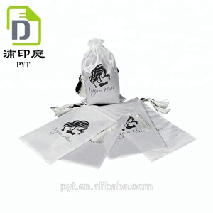 Customized size watch silk satin drawstring tote bag cheap wholesale online sale gift bag