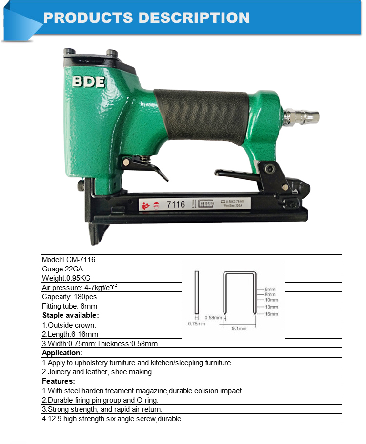 nail gun air nailer carton stapler