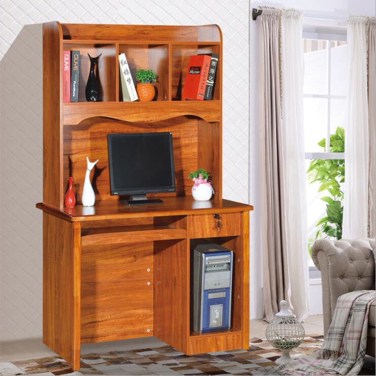Melamine laminated bookcase with computer desk from China