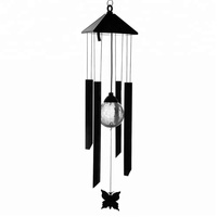 Garden Outdoor Decoration Solar Powered Colour Changing LED Wind Chime Butterfly