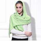 2016 new design knitting pattern cashmere women muslim head scarf