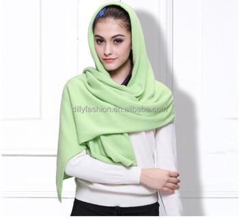 2016 New Design Knitting Pattern Cashmere Women Muslim Head Scarf