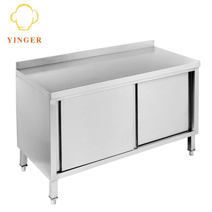 Customized catering kitchen equipment stainless steel work table cabinet
