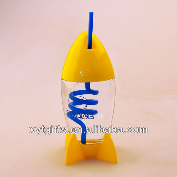 10oz Space Rocket Reusable Yellow Tea Cups With Sraw 10% Discount