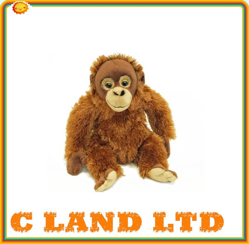 adorable long fur lifelike plush monkey plush animal toy