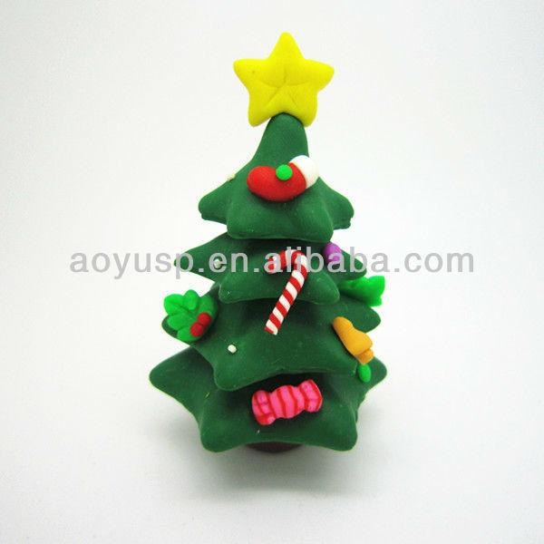 Fimo polymer clay christmas tree inch version cake
