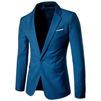 Hot selling Men Slim Fit Peaked Lapel Wedding One Button business Suits with 9 colors