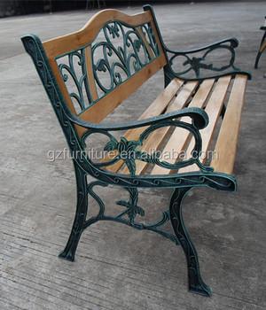 Park Bench, Cast Iron Wood Garden Bench
