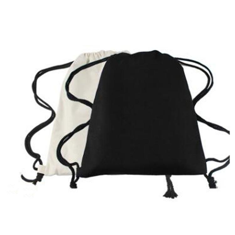 Оптовая продажа экологичный хлопок многоразовый портативный шнурок сумка для обуви