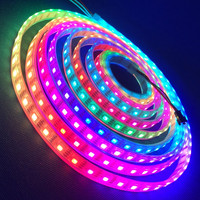 Addressable 5m 60LEDs/m DC12V WS2815 RGB led pixel strip waterproof by silicon coating IP65