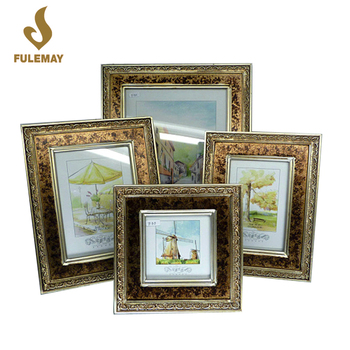 Wall Hanging Wood Picture Frames Vintage Style Multi Photo Shabby ...