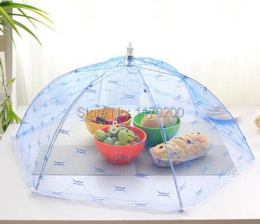 Питание обложки зонтик стиль муха москитная кухня кулинария инструменты еда крышка с шестигранной марли покрытие стола еда